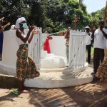 The Water Project: Lungi, Suctarr, #1 Kabbia Lane -  Community Members Celebrate The Well