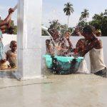 The Water Project: Lokomasama, Conteya Village -  Kids Celebrating And Splashing Water