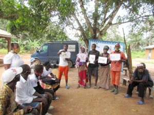The Water Project:  Participants Display And Explain Disease Transmission Story