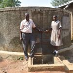 The Water Project: Ichinga Muslim Primary School -  Amisa And A Teacher At The Tank