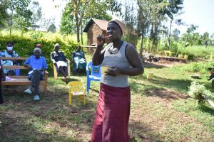 The Water Project:  Rosemary Demonstrating How To Brush Your Teeth