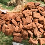 The Water Project: Maraba Community, Shisia Spring -  Bricks Provided By The Community