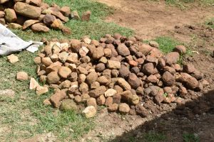 The Water Project:  Rocks Provided By The Community