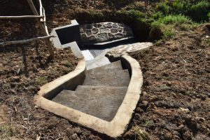 The Water Project:  Extended Staircase To Aid Access To The Spring