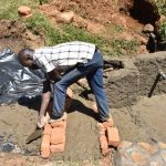 The Water Project: Maraba Community, Shisia Spring -  Constructing The Staircase