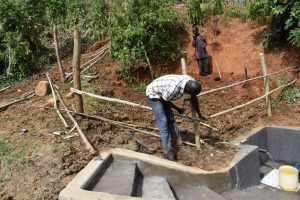 The Water Project:  Setting Up Protective Fence