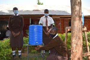 The Water Project:  Girls Handwashing At A New Station
