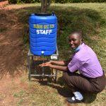 The Water Project: Friends Musiri Secondary School -  Brendah Using A New Handwashing Station