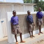The Water Project: Mwikhupo Primary School -  Boys Pose At Their New Latrines