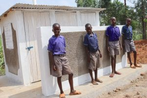 The Water Project:  Boys Pose At Their New Latrines