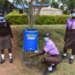 The Water Project: Friends Musiri Secondary School -  Girls At A Handwashing Point