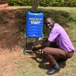 The Water Project: Friends Musiri Secondary School -  Stephen Enjoying A New Handwashing Points