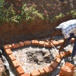 The Water Project: Maraba Community, Shisia Spring -  Bricklaying Begins