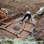 The Water Project: Mukhonje B Community, Peter Yakhama Spring -  Bricks Outline Future Walls