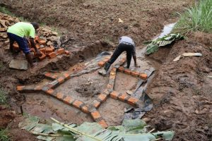 The Water Project:  Bricks Outline Future Walls