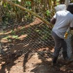The Water Project: Mukhonje B Community, Peter Yakhama Spring -  Fencing