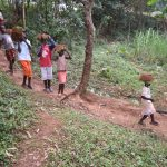 The Water Project: Mukhonje B Community, Peter Yakhama Spring -  Children Carrying Grass To Plant At The Spring