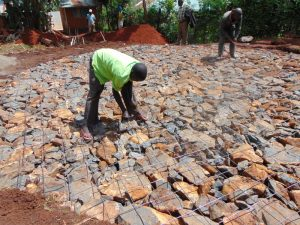 The Water Project:  Preparing The Rock And Wire Foundation