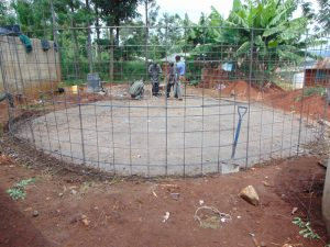 The Water Project:  Attaching Wire Wall To Foundation