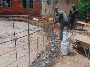 The Water Project:  Lining Up Wire With Foundation