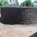 The Water Project: Kitagwa Secondary School -  Plastering Outside Of The Tank