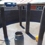 The Water Project: Kitagwa Secondary School -  Pillars After Plastering