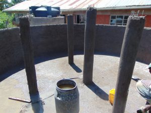 The Water Project:  Pillars After Plastering