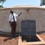 The Water Project: Kitagwa Secondary School -  Brian At The Rain Tank