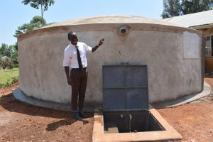 The Water Project:  Brian At The Rain Tank