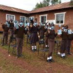 The Water Project: Kitagwa Secondary School -  Group Demonstration Of Contactless Greetings