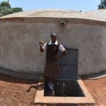 The Water Project: Kitagwa Secondary School -  Posing With A Clean Drink From The Tank