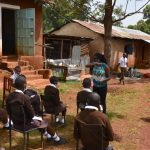The Water Project: Kitagwa Secondary School -  Demonstrating The Elbow Cough