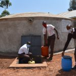 The Water Project: Kitagwa Secondary School -  Getting Water For Handwashing