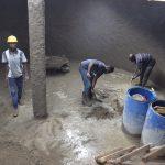The Water Project: Kaketi Secondary School -  Finishing Tank Bottom