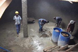 The Water Project:  Finishing Tank Bottom