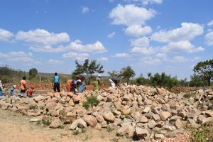 The Water Project:  Rocks At Tank Site