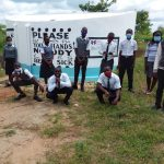 The Water Project: Kaketi Secondary School -  Student Health Club Members At The Tank