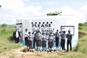 The Water Project:  Students At The New Tank