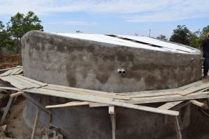 The Water Project:  Tank With New Roof