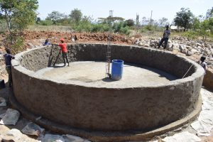 The Water Project:  Working On Interior Tank Walls