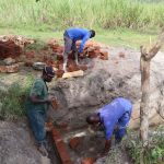 The Water Project: Kalenda A Community, Moro Spring -  Bricklaying