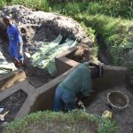 The Water Project: Kalenda A Community, Moro Spring -  Plastering The Headwall
