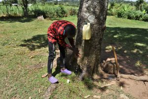 The Water Project:  A Boy Demonstrating Handwashing