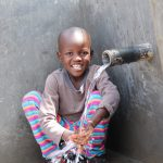 The Water Project: Kalenda A Community, Moro Spring -  It Was All Smiles For Samwel