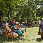 The Water Project: Kalenda A Community, Moro Spring -  Madam Rose Were Addressing The Group