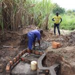 The Water Project: Luyeshe Community, Khausi Spring -  Building The Stairs