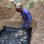 The Water Project: Luyeshe Community, Khausi Spring -  Setting The Wiremesh For The Foundation