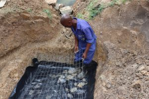The Water Project:  Setting The Wiremesh For The Foundation