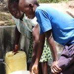 The Water Project: Luyeshe Community, Khausi Spring -  Fetching Water Made Easier