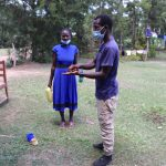 The Water Project: Luyeshe Community, Khausi Spring -  Handwashing Demonstration